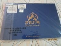 New Disney Shanghai Grand Opening Stamp Collection Booklet in wrapper