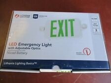 Lithonia 263x2v Led Emergency Exit Light Dual Lamp 120277v Mfd 9 21 2020 A689