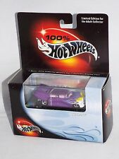 100% Hot Wheels Collectibles Triclopz Purple w/ Plastic Display Case