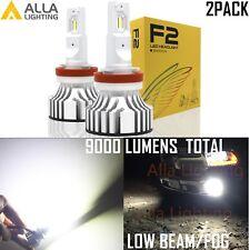 Alla Lighting 60W H11 H9 H8 LED Headlight Low Beam/ Fog Light Bulb 9000LM 6000K