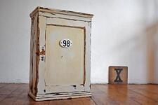 Schrank Hängeschrank Arztschrank Apothekerschrank Weiß Shabby Antik Holz Loft