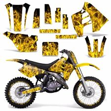 Graphic Kit Suzuki RM 125 RM 250 Dirt Bike Decal MX Motocross Deco 90-92 ICE YLW