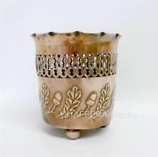 Arts & Crafts COPPER Cachepot with Acorn Frieze design Joseph Sankey