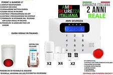 KIT ALLARME ANTIFURTO CASA TOUCH SCREEN SENZA FILI WIRELESS COMBINATORE GSM APP.