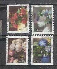 FLOWERS FROM THE GARDEN #5237-5240 Used U.S. 2017 49c Forever Stamp Set
