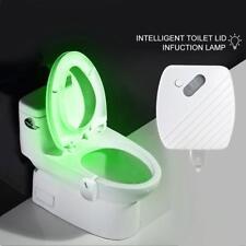 4.5V Smart Bathroom Toilet LED Body Motion Seat Sensor Lamp 24 Color Night Light