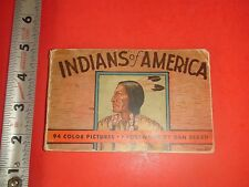 JD525 Vintage 1935 Book Indians of America 94 Color Pictures