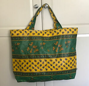 Large Shopping Shoulder Casual Tote Bag Handbag PVC Oilcloth Floral Pocket Zip