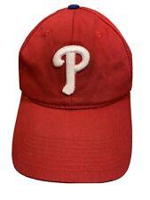 Philadelphia PHILLIES Red White Adjustable Adult Baseball Ball Cap Hat