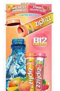 Zipfizz Healthy Energy Drink Mix - Pink Grapefruit and Peachmango, 20 Tubes