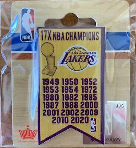 LOS ANGELES LA LAKERS CHAMPIONS BANNER PIN 2020 NBA CHAMPS 17 TIMES LEBRON JAMES
