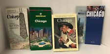 Lot 5 Vintage Road Travel Recreational Maps + Books City Guides Chicago