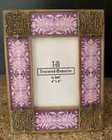 Treasured Memories by Ganz Mediterranean Scroll Swirl Photo Frame Holds 4x6