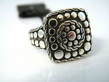 John Hardy Men's Size 11.25 Dot Silver Nuansa Square Ring NWT
