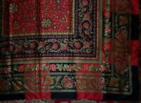 LARGE VINTAGE TIE RACK ITALIAN CLASSIC MOTIF SCARF  IN EXCELLENT  CONDITION
