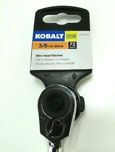 Kobalt 856836 3/8-Inch Drive 72-Tooth Mini Head Reversible Quick-Release Ratchet