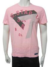 Mens G-Star T Shirt Top G-STAR 7 Print - Light Pink Size M to XXL MG21