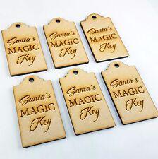 X6 Santa's Magic Key Tag, Christmas, MDF, Shape, Craft, blank Wooden xmas gift