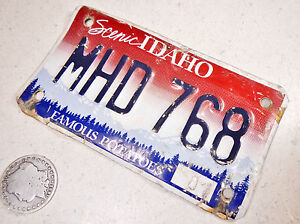 IDAHO MOTORCYCLE LICENSE PLATE MHD 768