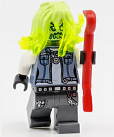 LEGO Hidden Side: Posessed Biker minifig with Crowbar