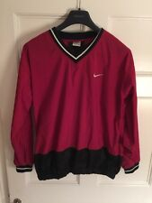 Vintage Nike Dri Fit Golf Football Red Black Jumper XL A1