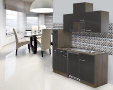 Küche Singleküche Küchenzeile Einbau Küchenblock 180 cm Eiche York grau respekta