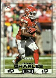 2016 Playoff 4th Down PARALLEL #94 Jamaal Charles #10/10 CHIEFS