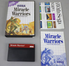 Miracle Warriors: Seal of The Dark Lord (SEGA Master System) w/ manual, poster