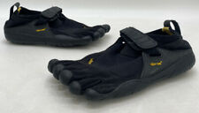 Vibram FiveFingers Mens Black Fabric Strap Toe Barefoot Running Shoes Size 40