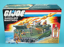 1988 GI JOE SANGLIER WARTHOG & SGT SLAUGHTER v3 MIB SEALED CONTENTS BENELUX BOX