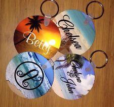 Keychain Monogram Personalize Beach Custom Name New Bridesmaids Teachers