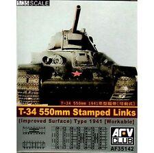 AFV35142 1/35 AFV CLUB T-34 550mm Stamped Links (imp. Surface) Workable