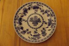"""DELFT MINTON 9"""" PLATE ENGLAND FLOW BLUE c1900-c1915 ANTIQUE"""