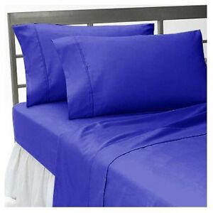 Fitted Sheet/Flat Sheet/Pillow Case 1000 TC Egyptian Cotton US Sizes Solid Color