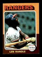 1975 Topps #259 Len Randle NM/NM+ Rangers 504436