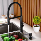 Kitchen Sink Pull Down Tap Mixer Faucet with Brass Sprayer Head, Matte Black