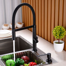 Kitchen Sink Pull Down Mixer Faucet  Swivel Sprayer Spout Tap Head, Matte Black
