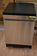 "Ge Gpt225Sslss 24"" Stainless Portable Dishwasher Nob #92812 Hrt"