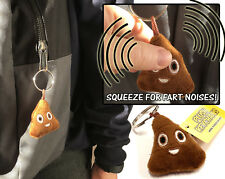 FARTING NOISY SMILE POO EMOJ KEYRING GROSS BOYS GIRLS CHRISTMAS STOCKING FILLER