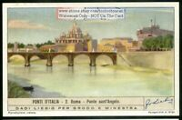 The Ponte Sant'Angelo Rome Italy c60 Y/O Trade Ad Card