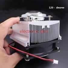 100W LED Aluminium Heat Sink Cooling Fan+ 120°44mm Lens + Reflector Brack