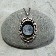 Earth Pendant Necklace Space Planet Jewelry Antique Silver