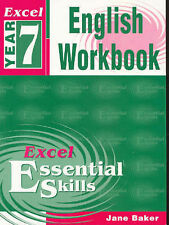 Excel Year 7 English Workbook by Jane Baker Paperback Book Free Shipping!