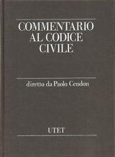 COMMENTARIO AL CODICE CIVILE _Vol I DELLE PERSONE E DELLA FAMIGLIA_ CENDON _UTET