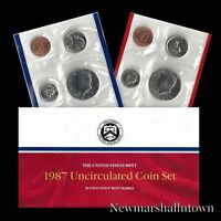 1987 P+D U.S. Mint Set ~ Kennedy Washington Roosevelt Jefferson Lincoln US Coins