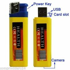 SPY ACCENDINO con Telecamera Nascosta + microSD 16GB  Micro USB  720x480 pixel