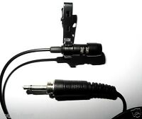 """Lavalier Mic Microphone For Wireless Microphones 3.5mm 1/8"""" External Thread Plug"""