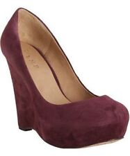 L.A.M.B by GWEN STEFANI Shoes PLATFORM Wedge BURGUNDY FREE SHIPPING