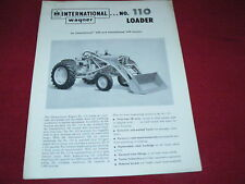 International Harvester Wagner No.110 Loader for 240 Tractor Dealer's Brochure
