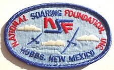 Vintage NATIONAL SOARING FOUNDATION Hobbs NEW MEXICO Patch (NSF) Nos
